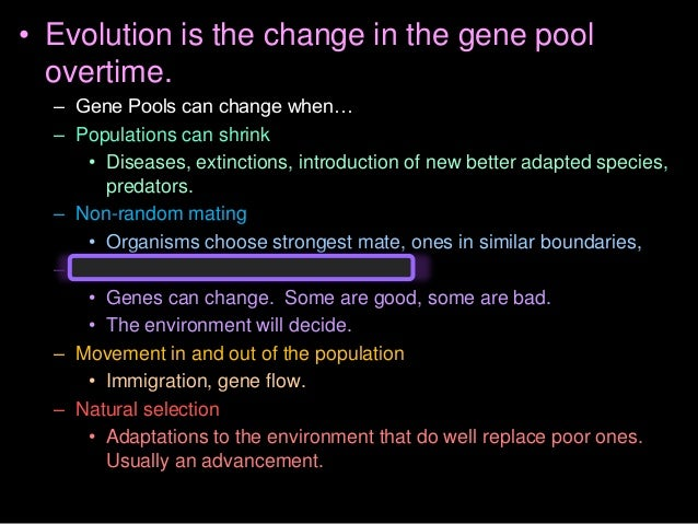 • All organisms are derived from common ancestors by a process of branching over time… – Populations split into different ...