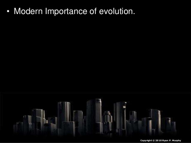  Change is a slow process over many generations.  Punctuated evolution shows us that change can during some periods spee...