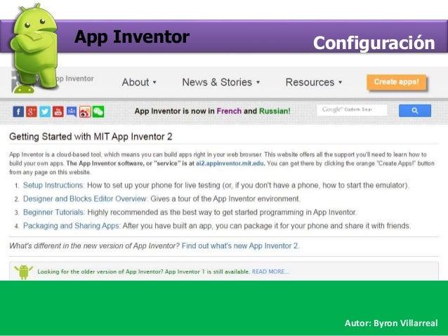 Crear proyecto App Inventor Slide 2