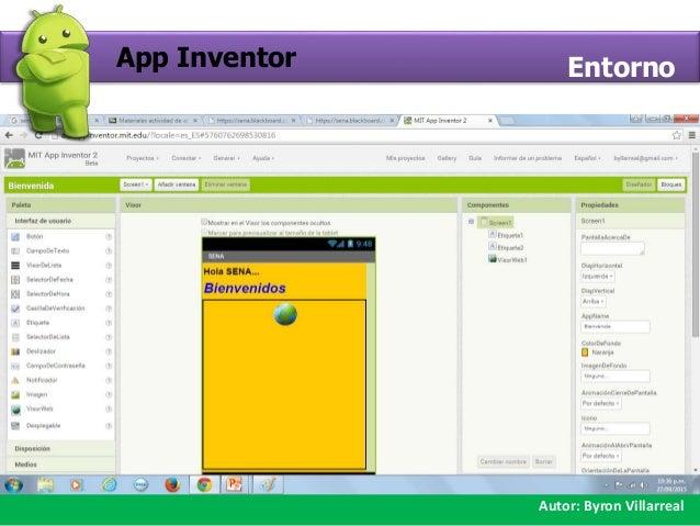 Crear proyecto App Inventor Slide 3