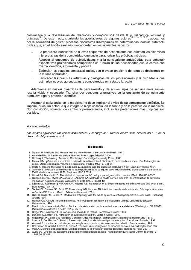Gac Sanit 2004; 18 (3): 235-244 12 comunitaria y la revitalización de relaciones y compromisos desde la pluralidad de lect...