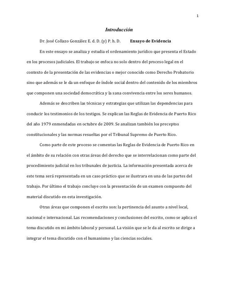 1                                             Introducción       Dr. José Collazo González E. d. D. (y) P. h. D.   Ensayo ...