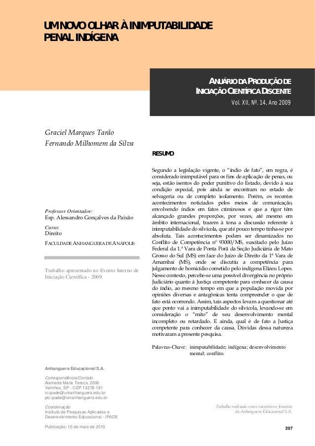 207 Anhanguera Educacional S.A. Correspondência/Contato Alameda Maria Tereza, 2000 Valinhos, SP - CEP 13278-181 rc.ipade@u...