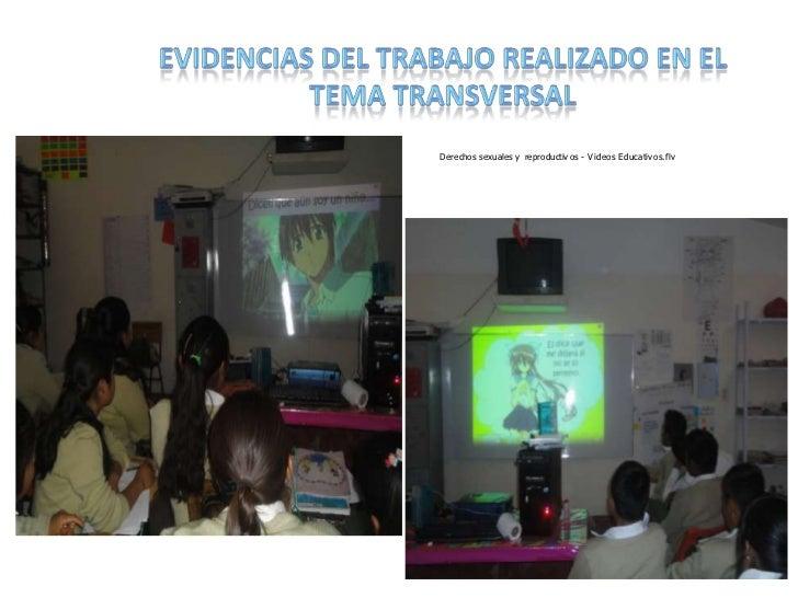 EVIDENCIAS DEL TRABAJO REALIZADO EN EL TEMA TRANSVERSAL<br />