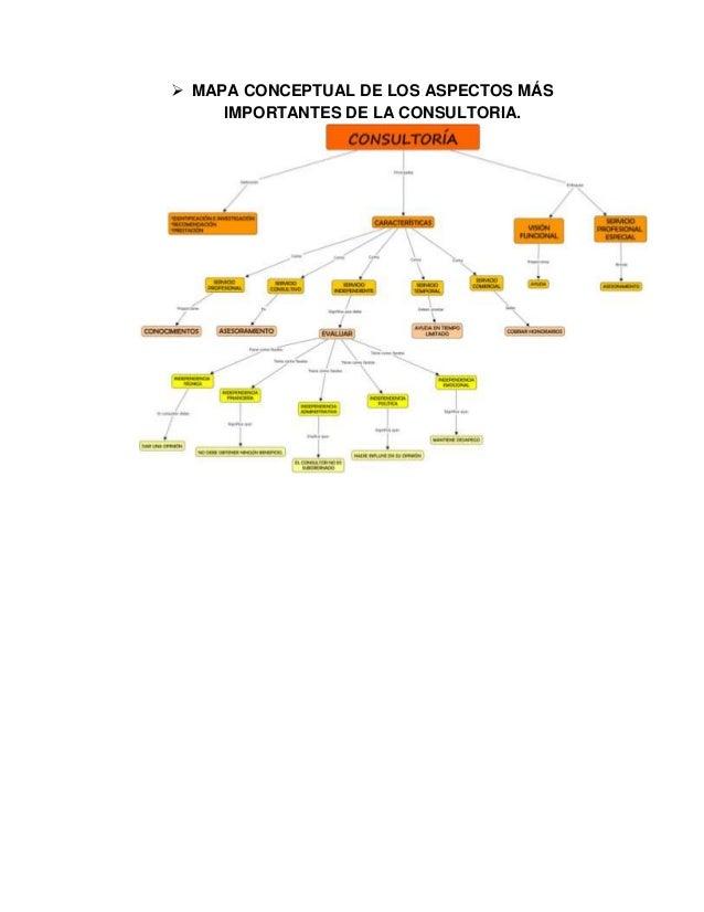  MAPA CONCEPTUAL DE LOS ASPECTOS MÁS IMPORTANTES DE LA CONSULTORIA.