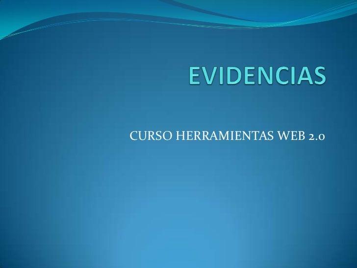 EVIDENCIAS<br />CURSO HERRAMIENTAS WEB 2.0<br />