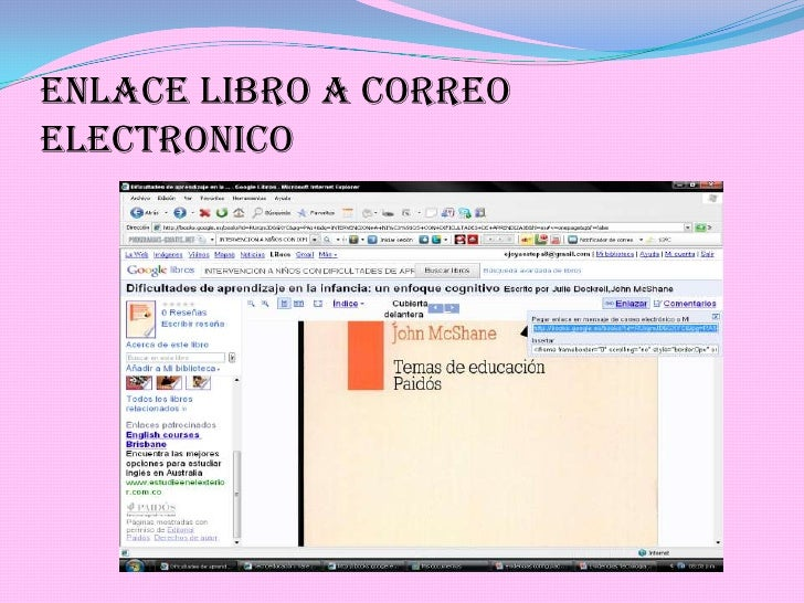ENLACE LIBRO A CORREO ELECTRONICO<br />
