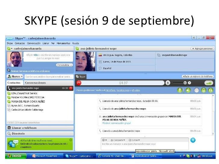 SKYPE (sesión 9 de septiembre) <br />