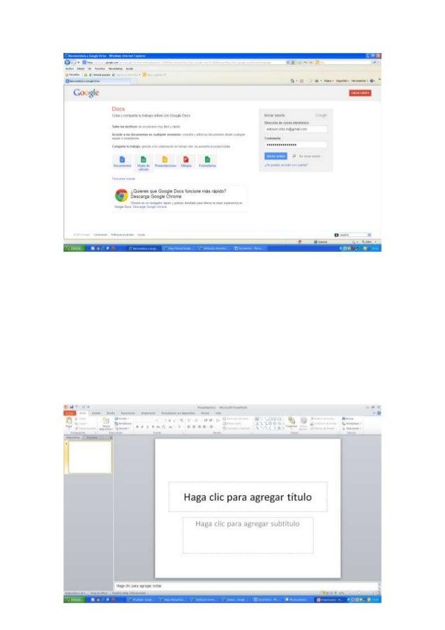 Evidensias google docs