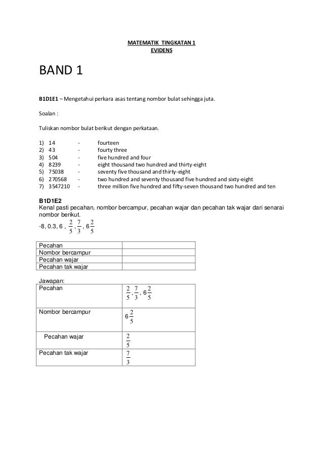 Contoh Soalan Matematik Tahun 3 Dlp - Soalan d