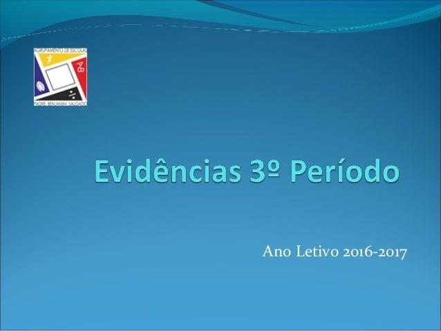 Ano Letivo 2016-2017