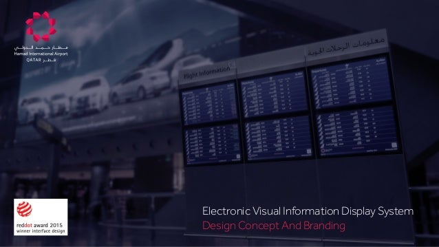 Electronic Visual Information Display System Design Concept And Branding e Colors on Dark Backgrounds