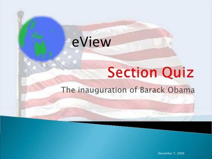 The inauguration of Barack Obama June 7, 2009 eView