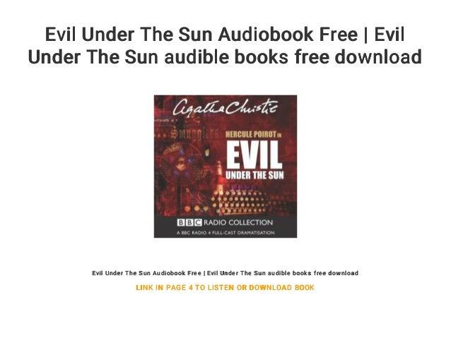 Evil Under The Sun Audiobook Free | Evil Under The Sun audible books …
