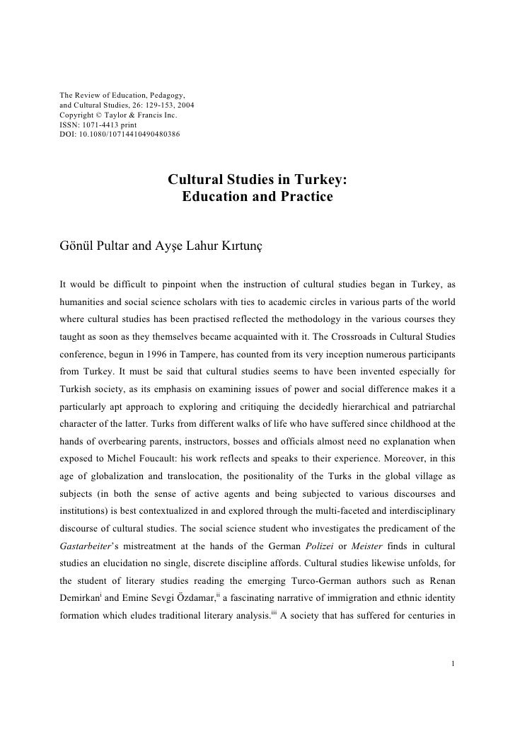 The Review of Education, Pedagogy, and Cultural Studies, 26: 129-153, 2004 Copyright © Taylor & Francis Inc. ISSN: 1071-44...