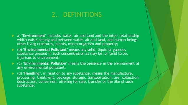 essay on environmental protection act 1986 The environment (protection) act, 1986 (29 of 1986), the central government  hereby makes the following rules, namely : comment it is well settled in law that .
