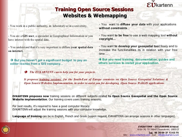 kartenn                                        Training Open Source Sessions                                           Web...