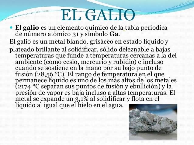 Best galio elemento quimico de la tabla periodica image collection el galio el galio es un elemento quimico de la tabla periodica urtaz Choice Image
