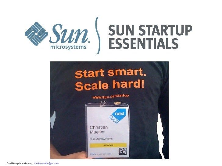 Sun Microsystems Germany, christian.mueller@sun.com