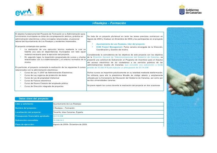 iRealejos–Formación   ElobjetivofundamentaldelProyectodeFormacióneneAdministraciónpara funcionariosmunicipal...