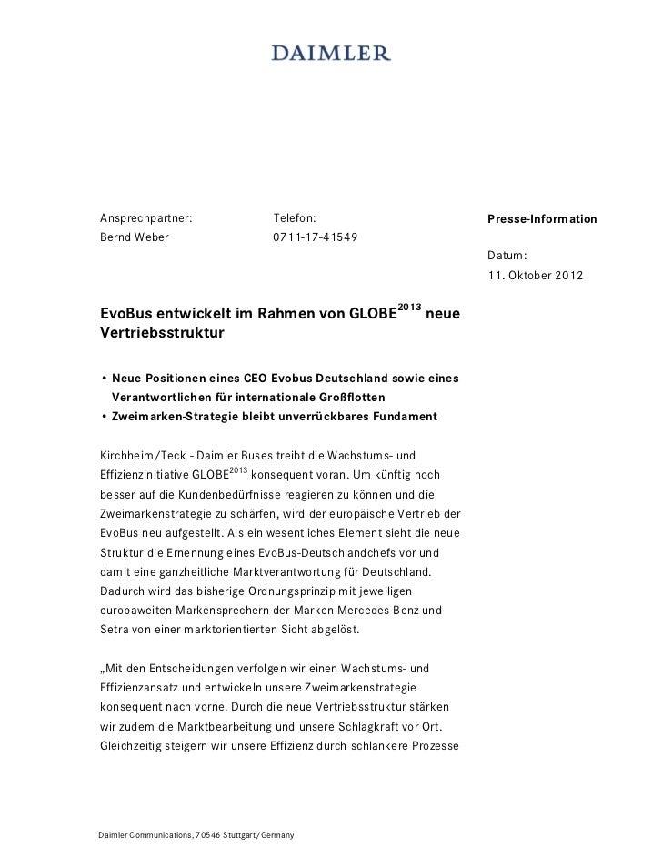 Ansprechpartner:                         Telefon:                      Presse-InformationBernd Weber                      ...