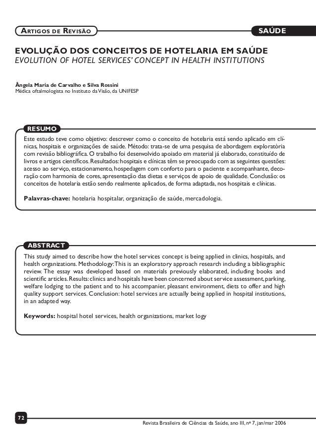 SAÚDE 72 ARTIGOS DE REVISÃO Revista Brasileira de Ciências da Saúde, ano III, no 7, jan/mar 2006 EVOLUÇÃO DOS CONCEITOS DE...