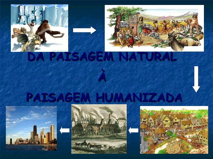 DA PAISAGEM NATURAL  À  PAISAGEM HUMANIZADA
