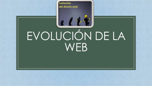 EVOLUCIÓN DE LA  C  WEB