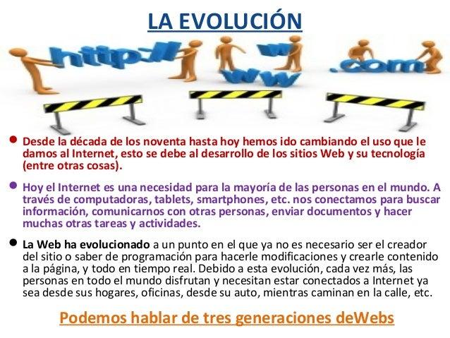 Evolución de la web. zaida aguilar Slide 2