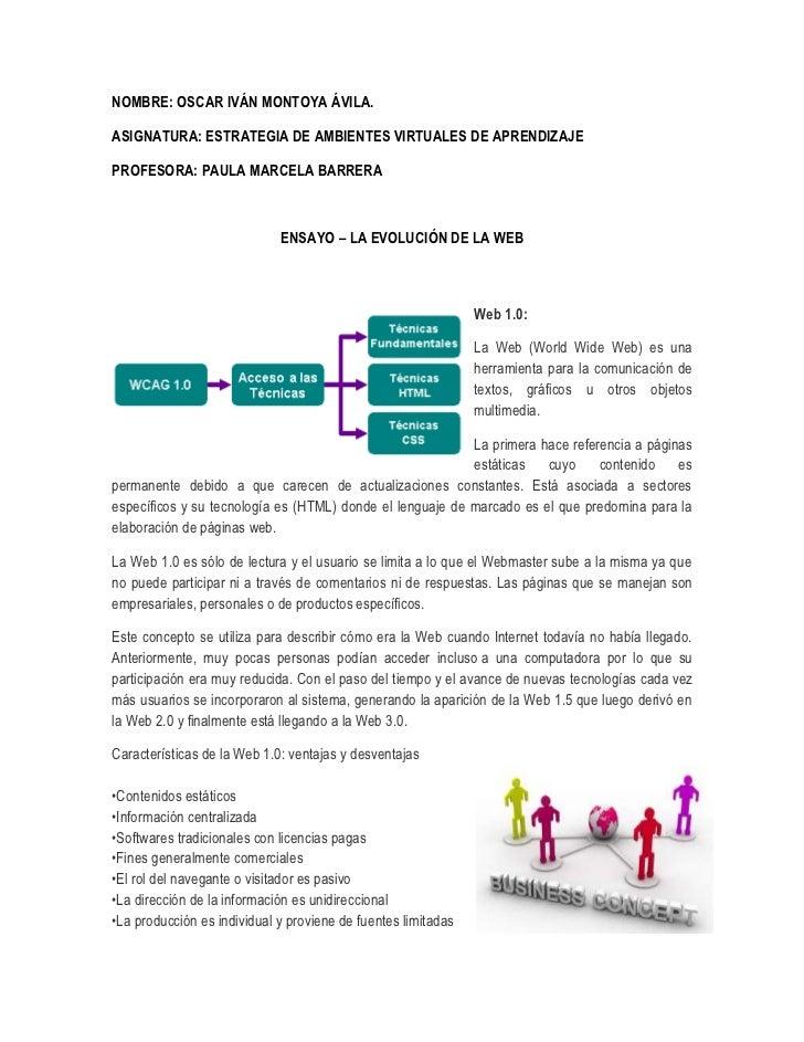 NOMBRE: OSCAR IVÁN MONTOYA ÁVILA.ASIGNATURA: ESTRATEGIA DE AMBIENTES VIRTUALES DE APRENDIZAJEPROFESORA: PAULA MARCELA BARR...