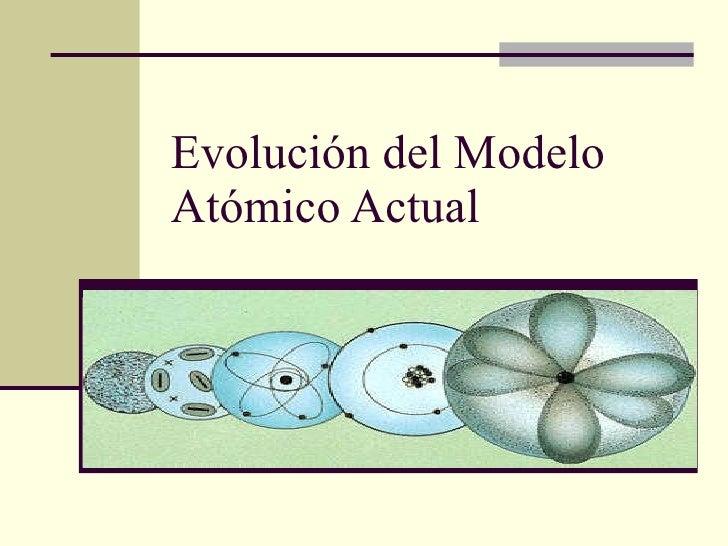 Evolución del Modelo Atómico Actual