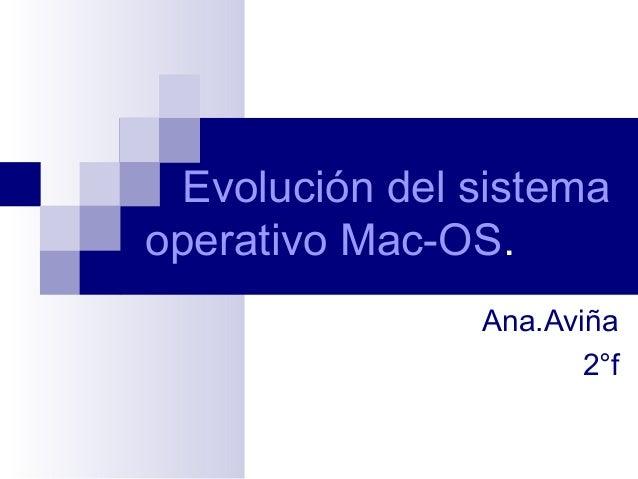 Evolución del sistemaoperativo Mac-OS.Ana.Aviña2°f