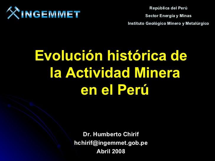 República del Perú                             Sector Energía y Minas                     Instituto Geológico Minero y Met...