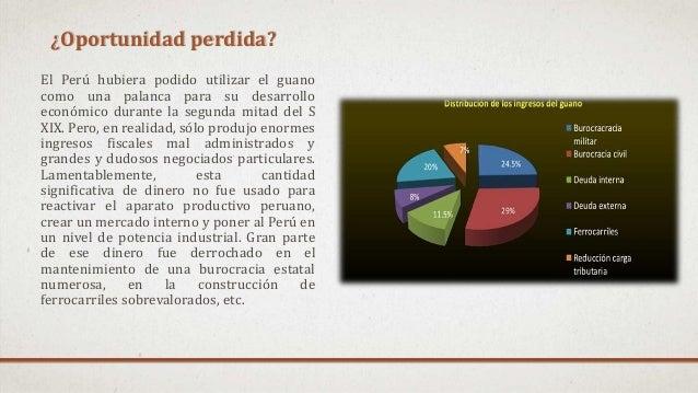 ¿Oportunidad perdida? El Perú hubiera podido utilizar el guano como una palanca para su desarrollo económico durante la se...