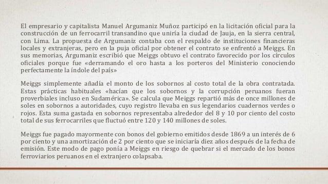 El empresario y capitalista Manuel Argumaniz Muñoz participó en la licitación oficial para la construcción de un ferrocarr...
