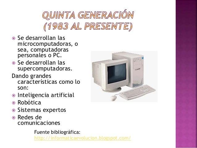  Realizar un cuadro comparativo de las evolución de la informática.