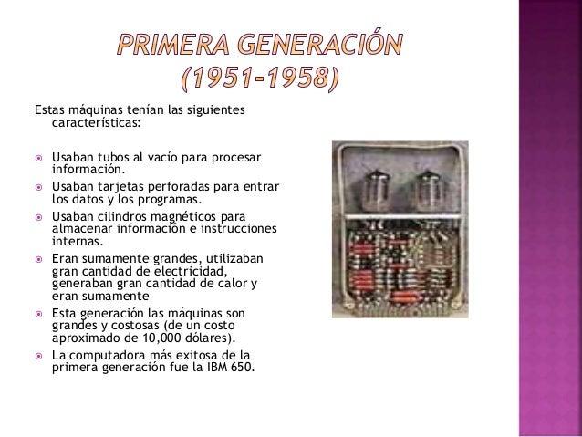  En esta generación las computadoras se reducen de tamaño y son de menor costo.  Usaban transistores para procesar infor...