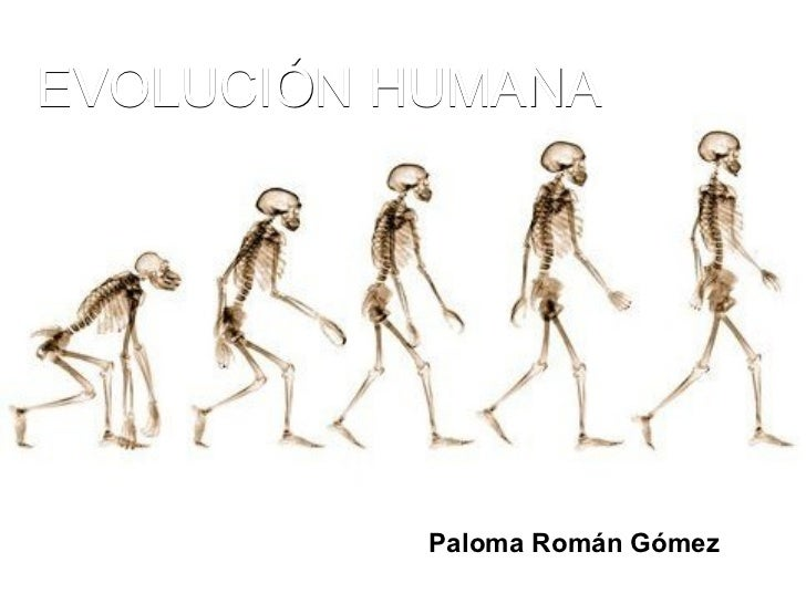 EVOLUCIÓN HUMANA Paloma Román Gómez