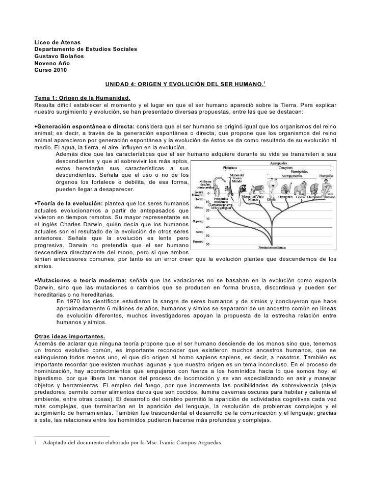Liceo de Atenas Departamento de Estudios Sociales Gustavo Bolaños Noveno Año Curso 2010                            UNIDAD ...