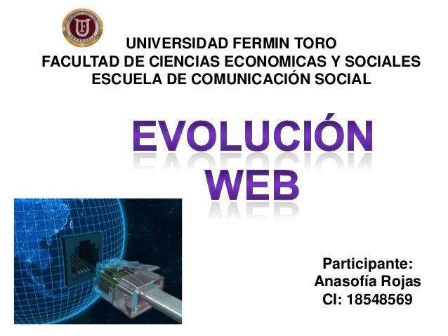 Participante: Anasofía Rojas CI: 18548569 UNIVERSIDAD FERMIN TORO FACULTAD DE CIENCIAS ECONOMICAS Y SOCIALES ESCUELA DE CO...