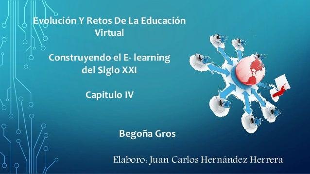 Begoña Gros Evolución Y Retos De La Educación Virtual Construyendo el E- learning del Siglo XXI Capitulo IV Elaboro: Juan ...