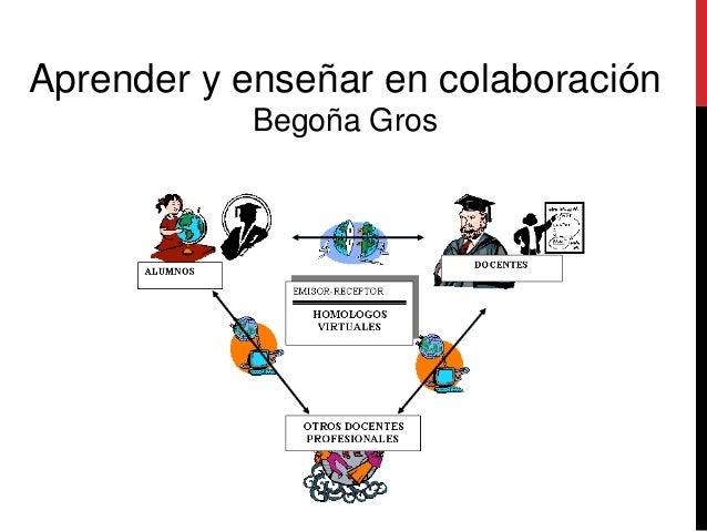 Aprender y enseñar en colaboración Begoña Gros