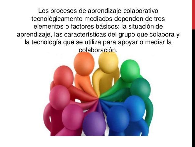 Los procesos de aprendizaje colaborativo tecnológicamente mediados dependen de tres elementos o factores básicos: la situa...