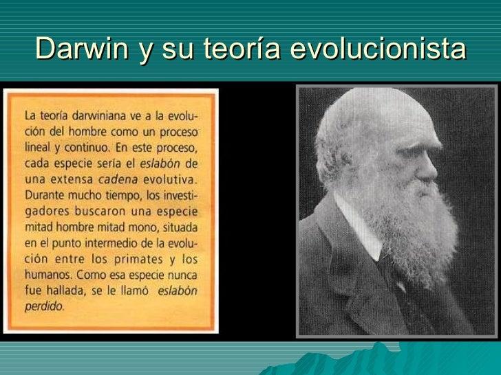 Darwin y su teoría evolucionista