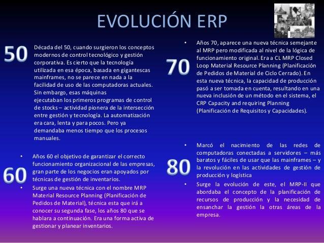• Años 60 el objetivo de garantizar el correcto funcionamiento organizacional de las empresas, gran parte de los negocios ...