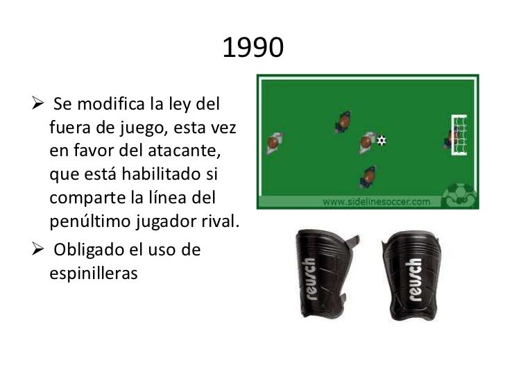 Evolucion de las reglas del futbol2 for Regla de fuera de juego en futbol