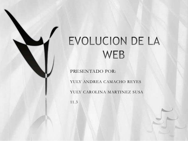 PRESENTADO POR:YULY ANDREA CAMACHO REYESYULY CAROLINA MARTINEZ SUSA11.3