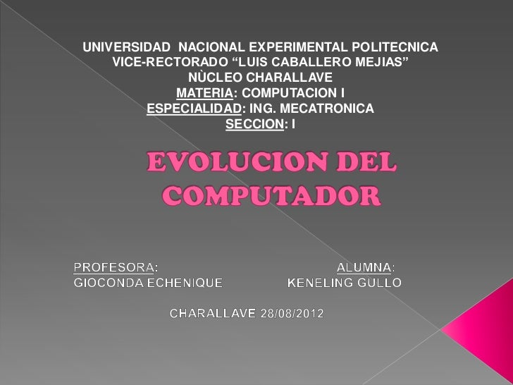 """UNIVERSIDAD NACIONAL EXPERIMENTAL POLITECNICA    VICE-RECTORADO """"LUIS CABALLERO MEJIAS""""              NÙCLEO CHARALLAVE    ..."""