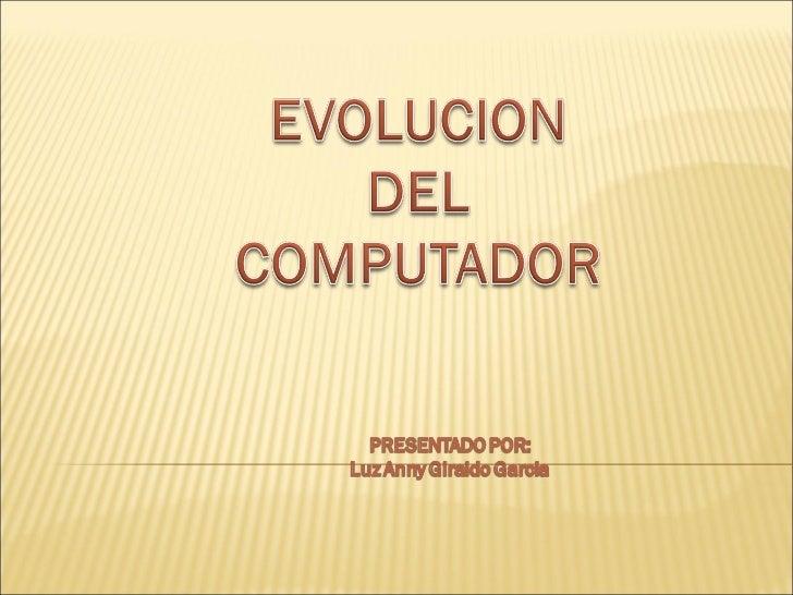 Evoluciondelcomputador2012