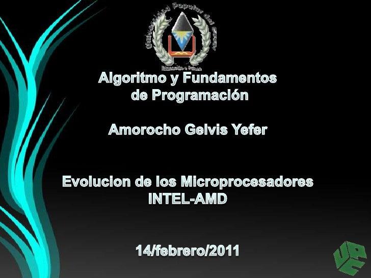 Evolucion de los microprocesadores